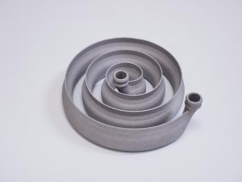 金属3Dプリンターで造ったアルミニウムの熱交換器です
